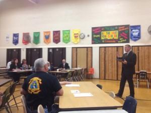 Former PCSD Superintendent Dr. Jeff Graham addresses area pastors regarding school issues